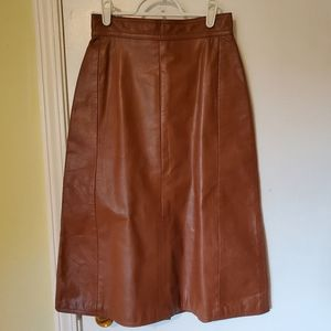 Gassy Jack vintage leather skirt by Gabriel Levy